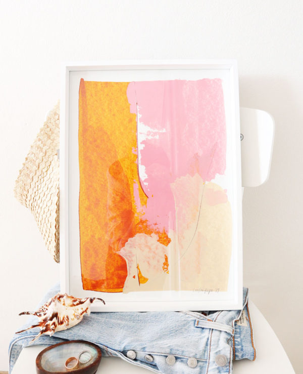 caitlin hope sunrise original artwork, abstract and colourful