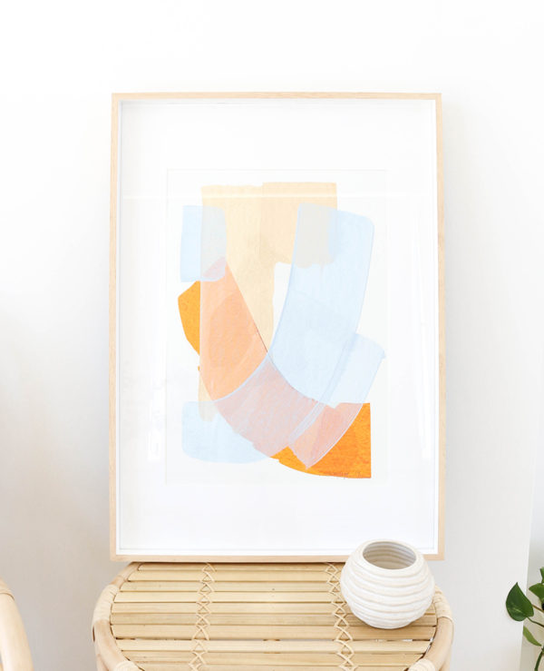 caitlin hope beach swims original artwork, bright colourful and abstract