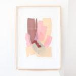 caitlin hope sidewalk icecream original artwork, bright colourful and abstract