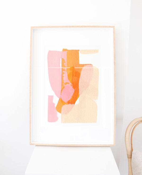 caitlin hope sunrise original artwork, bright colourful and abstract