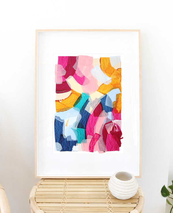 caitlin hope dreamer original artwork, bright colourful and abstract