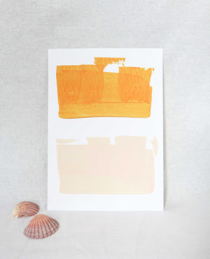 earth tones print, seashore collection, bright and colourful, caitlin hope art
