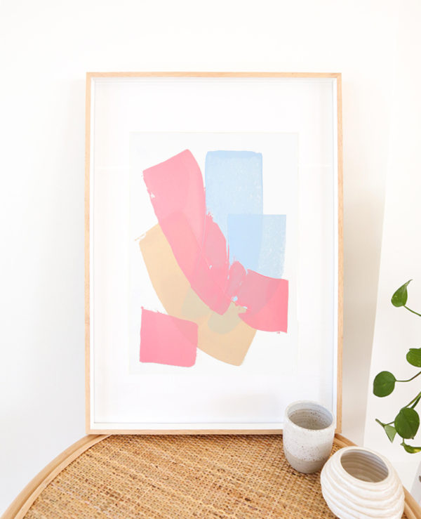 caitlin hope fairy floss original artwork, bright colourful and abstract