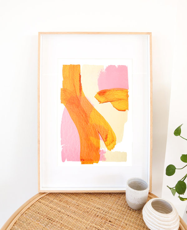 caitlin hope reef original artwork, bright colourful and abstract