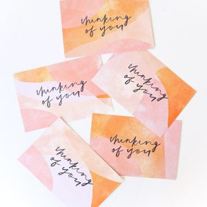 thinking of you postcards 5 pack caitlin hope design abstract art