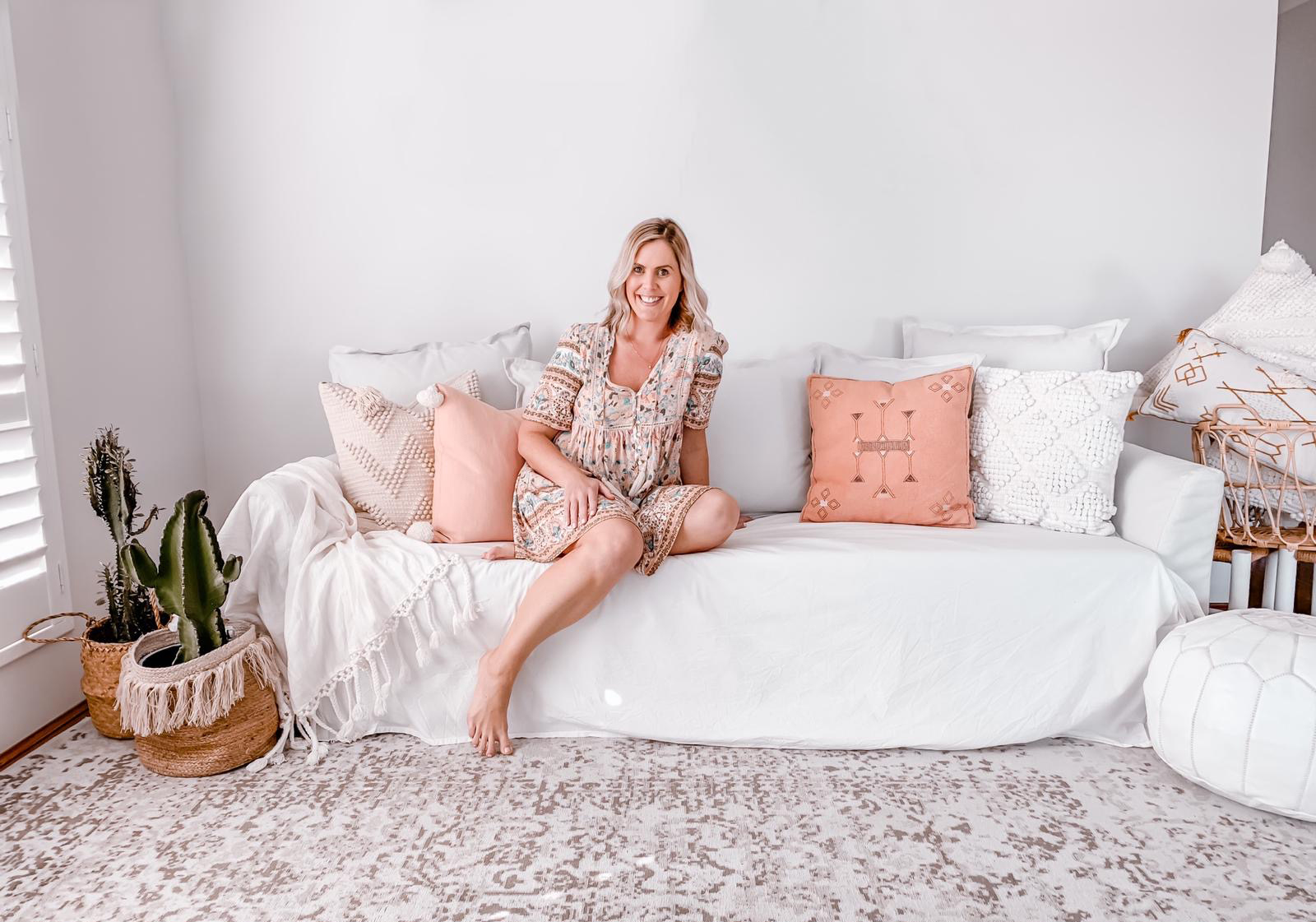 welcome to my place, caitlin hope blog with laura goodwin from the blush abode