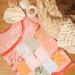 2021 caitlin hope artist calendar, fun, bright, colourful and boho