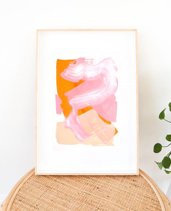 colourful painting, abstract A3 artwork, earthy tones by caitlin hope