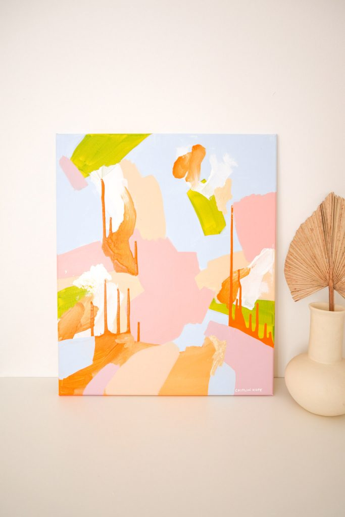Colourful abstract canvas commission artwork