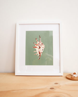 """8"""" x 10"""" monterosso shell abstract painting on paper with framing available"""